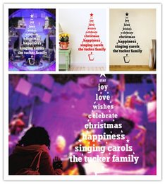 Wholesale EMS Christmas decorations Christmas shop window glass backdrop decorated Christmas tree can remove personalized sticker SIZE CM