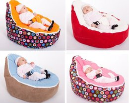 Wholesale Baby bean bags bed baby sleeping beanbag chair Newborn sofa cama baby bed sofa with harness Filler do not included Z1083