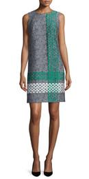 Embroidery Women Sheath Dress Sleeveless Casual Dresses 010827