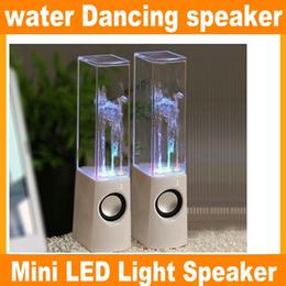Hot Sales RainDance Fountain Speaker Nouvelle marque Dancing Water Speaker Active Portable Mini USB LED Light Speaker pour PC MP3 JF-A4 à partir de conduit l'eau de danse usb fabricateur