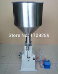 Wholesale Stainless steel pneumatic filling machine ml cream paste dispensing liquid packaging equipment A02