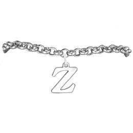 Hot Sale Text Z Charm Rolo Chain Bracelets 100pcs A lot Link Chain Antique Silver Plated Latest Design