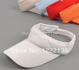 Wholesale-Wholesales Unisex Adjustable Sun Visor Party Hat Casual Hiking Travel Golf Tennis Outdoor Sports Visor Sun Caps For Women Men