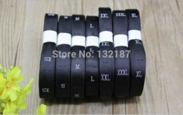 Wholesale roll garment size label clothing woven tags number tags size tags embroidered size labels M66981