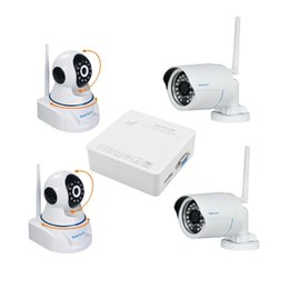 Wholesale Onvif NVR System CH CH P P P Super Mini NVR Kits with Baby Monitor and Bullet P2P P Wifi IP Camera