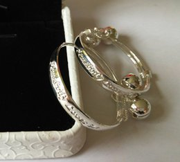 Wholesale NEW Nice Sterling Silver Pretty Lucky Baby Jewelry Bangle Bracelet Hot