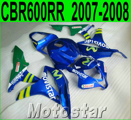 Wholesale Injection molding motorcycle parts for HONDA fairings CBR600RR blue green movistar fairing kit CBR RR F5 LY50