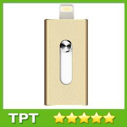 Wholesale 2015 Hot Metal i Flash Drive G G G G USB Flash Reader For i S C i Flash Memory Storage Reader Otg