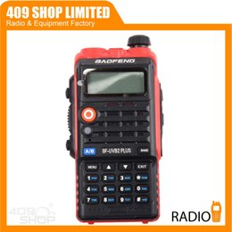 Wholesale-NEW!!! Baofeng BF-UVB2 PLUS Red two way Radio BFUVB2-PLUS Transceiver 136-174 400-520MHz + FREE PTT Earpiece