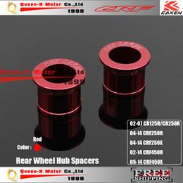 Wholesale Billet Aluminum Rear Wheel Hub Spacers Fit CR125 R CRF250 XR CRF450R X Motorcross Dirt Bike Motorcycle Parts order lt no tr