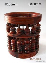 Wholesale Deal Redwood crafts Chinese nice new annatto carved Abacus beads shaped pen holder