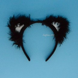 White Black Fox Cat Ears Headband Costume Party Hair head band Hair Accessories Party Decoration Gift
