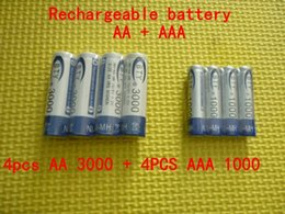 Wholesale 4PCS BTY Ni MH AA mAh V Rechargeable AAA mAh Battery