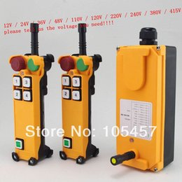Wholesale 2 Motion Speed transmitters Hoist Crane Truck Radio Remote Control System with E Stop Tell us the voltage you need order lt no track
