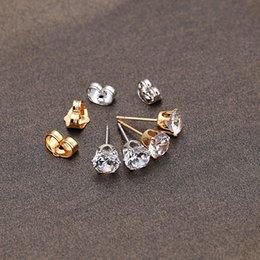 Wholesale Crystal Rhinestone Earrings Women s Men K Platinum Plated Crown Ear Stud Earring White silver Jewelry UNISEX Brincos J0006