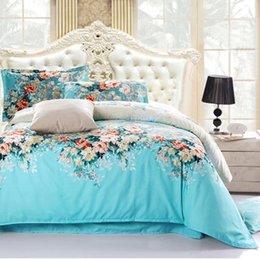 Wholesale Bedclothes bedspread Reactive printed cotton bedding sets Bed Cover sheet King Queen Full size roupa de cama