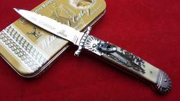 Wholesale AKC Hubertus Solingen guardian antler handle camping Collecting hunting knife knives copies freeshipping