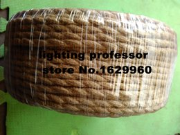 Wholesale m Price Vintage rope Fabric Copper Conductor Eletrical Wire mm Suitable For Edison Bulb Lamps