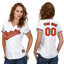 Wholesale 30 Teams customized Baltimore Orioles womens jersey custom women baseball jerseys Personalized logo shirt Stitched FEMAL best by dr china