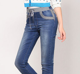 Wholesale women s denim pants cheap plus size jeans for woman best xl plus size women pants online clothing VA