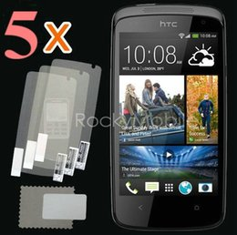 Wholesale-New 5x CLEAR LCD Screen Protector Guard Cover Film Shield for HTC Desire 500