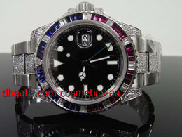 FACTORY SALES Luxury High Quality II 2 40mm Automatic 7750 Movement Pepsi Diamond Ruby Wrist Watch New 116710