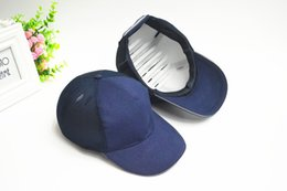 Wholesale Simple And Stylish Mesh Helmet Baseball Helmets Thicker Inner Casing Collision Prevention Against A Blue Hat With Reflective Tape