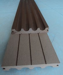 Wholesale The wood plastic material Hollow decking step pedal plank flooring siding