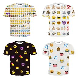 Wholesale New Fashion Inc Women Men Clothing Funny Cartoon Emoji Print D T Shirt Punk Camisetas O neck Short Sleeve Tee Tops