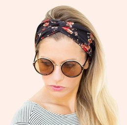 Wholesale 2015 Women s Vintage Floral Headband Fashion BOHO design Teenagers flower cotton headwraps Fashion Accessories