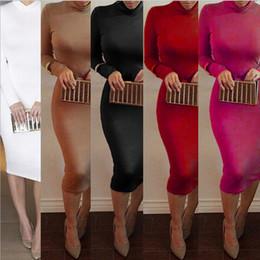 New Brand Long Party Dresses High Collar Sexy Bandage Bottoming Women Dress Casual Dress Vestido de festa ZJ1384