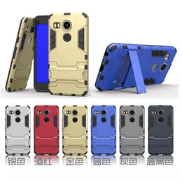 Wholesale Hybrid Armor guard shockproof toughness support hanger Case for iPhone S plus Galaxy S5 S6 EDGE Note A7 HTC M9 LG G4
