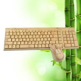al por mayornuevo ratn del teclado de bamb multimedia inalmbrico de teclado para los ratones de madera de madera de regalo innovador de computadora pc