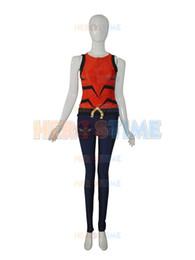 Red and navy blue Lycra spandex Aqualad Garth DC Comics Male Superhero Costume