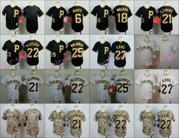 Wholesale Pittsburgh Pirates Youth Jersey Starling Marte Roberto Clemente Andrew McCutchen Jung Ho Kang Neil Walker White Black Camo Kid