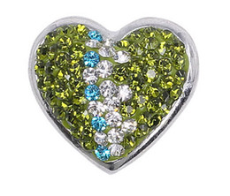 Wholesale Heart shape multi color button antique silver mm Soft bag alloy DIY crystal rhinestone alloy snap Noosa style chunks press button jewelry