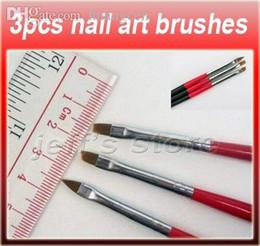 Wholesale-3PCS Sset Nail Art Design Painting Pen Polish Brush Set Nail Art Brush,Acrylic Painting Pen,nail brush