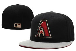 Wholesale MLB Arizona Diamondbacks Fitted Cap Embroidered Team Logo Baseball Size Cap Casual Style sport Hats With Box