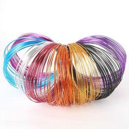 Wholesale 10m roll mm multi colors anadized aluminum wire coil soft DIY jewelry craft versatile painted aluminium metal wire FXA011