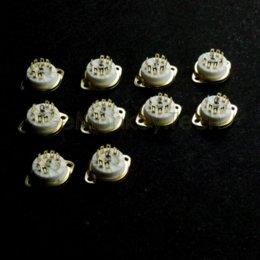 Wholesale 10PCS Golden Plated Pin B9A CHASSIS Mount Tube Socket for AX7 DJ8 EL84 ECC83 tube bicycle socket air