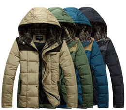 2016 SALE Male fashion winter feather stitching cotton padded coat male Korean men US style jacket men