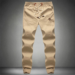 Wholesale-Plus Size 5XL Mens Chino Pants Casual Fashion Black Khaki Joggers Cotton Sweatpants Men Elastic Harem Pants Sarouel Homme