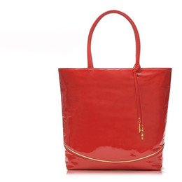 Wholesale-H1421 EE SWEET CANDY RED Patent Leather TOTE BAG SHOPPER Handbag FREE SHIPPING DROP SHIPPING WHOLESALE sale