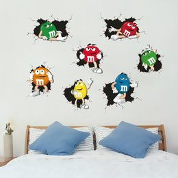 MM Peas wall stickers Cartoon children's room decorative nursery removable wall decals waterproof stickers wall paper