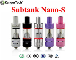 Wholesale Single Kanger Subtank Nano S V2 Atomizer Black White SS pink purple Color Kanger Sub Ohm Tank for subox KBOX mini vapor mods