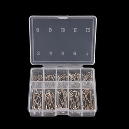 Wholesale 100Pcs Box Sizes Steel Fishhooks Carp Fishing Jig Head Set Pesca Anzol Fishing Tackle Fishing Hook with Hole