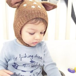Wholesale new Spring Fall kids knitted all match baby leisure lovely deer shape hats