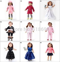 Wholesale Toy xmas GIFT Handmade Doll Clothes For quot American Girl Princess Dress Bling Bling Chirstmas present accessories design