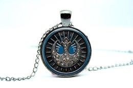 Wholesale 10PCS New Jedi Order Symbol Pendant Necklace Glass Photo cabochon necklace vision