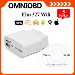 Wholesale 5 ELM327 Wifi Original Vgate iCar elm327 elm WIFI OBDII OBD2 For Android PC iPhone iPad Car DHLShipping fee